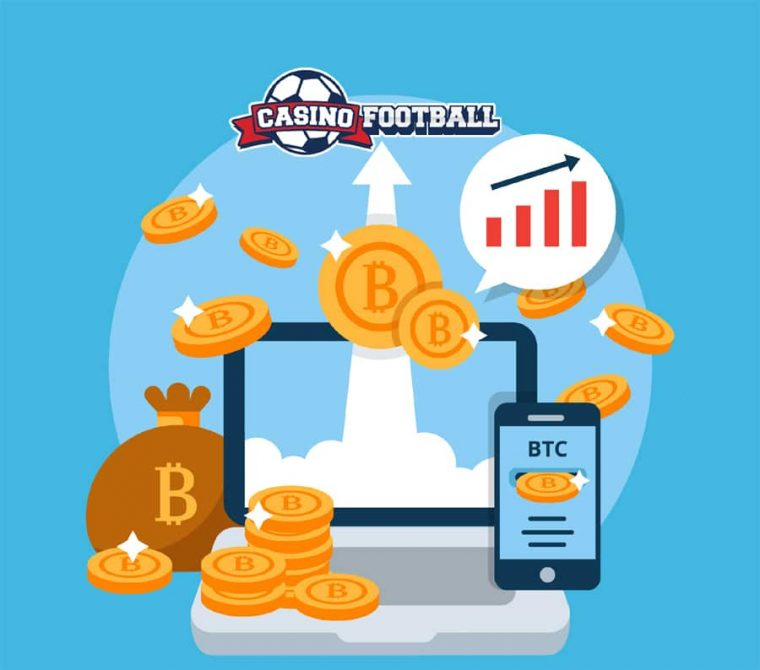 Casino Football take Bitcoin Image