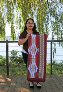 Beautiful Wool Blankets Created by Suquamish Artist Available at Gift Shop
